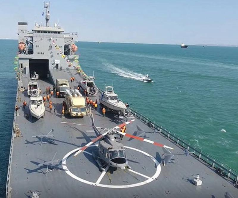 Iranian Navy Receives New Ocean-Going Multifunctional Warship