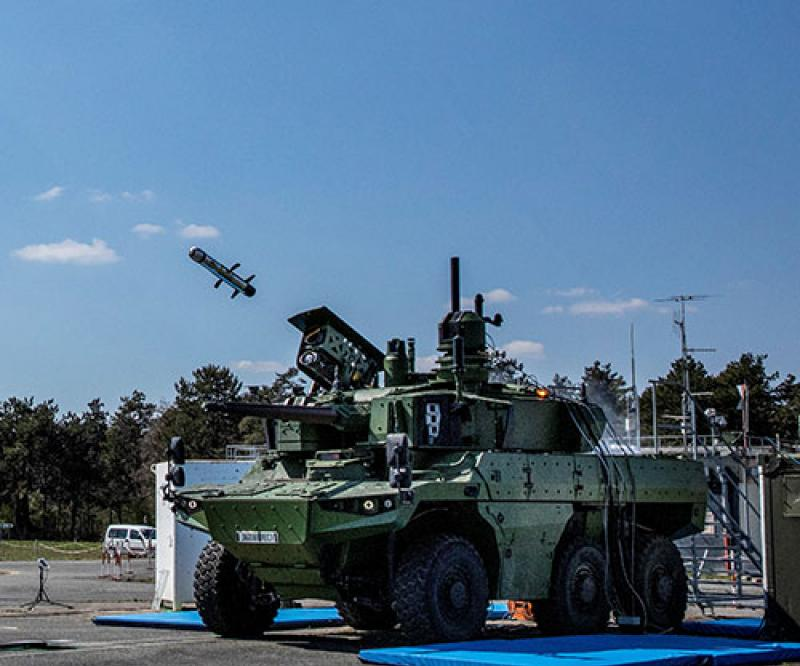 MBDA, Nexter Participate in First Firing of MMP from Jaguar Armored Vehicle