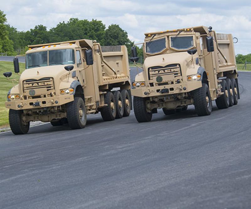 Mack Defense Starts M917A3 Heavy Dump Truck Production at Mack Experience Center