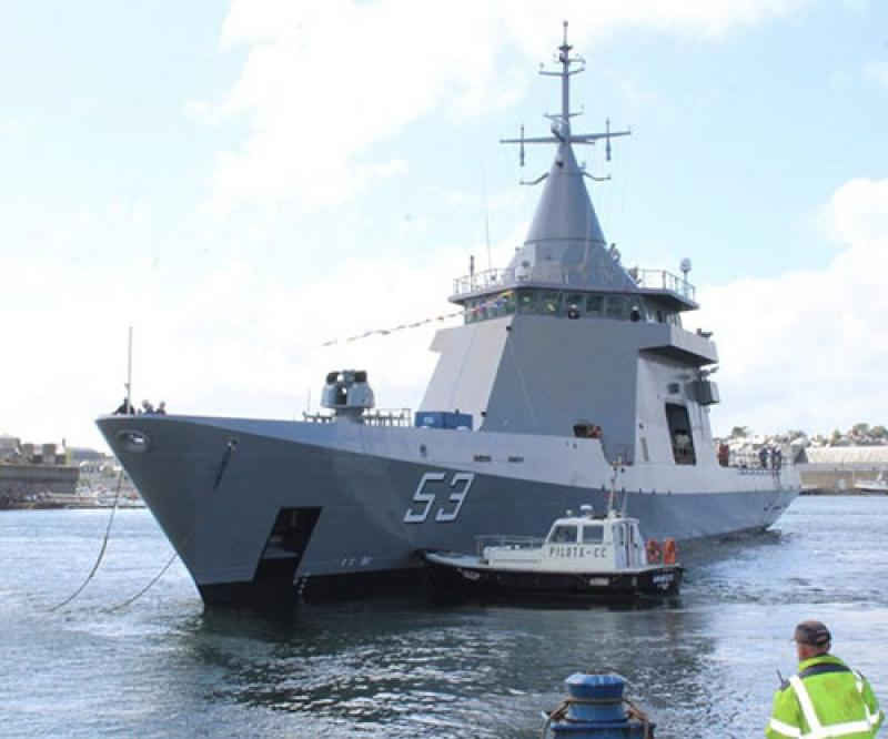 Naval Group Launches Argentina's Third Offshore Patrol Vessel