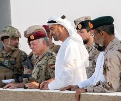 Abu Dhabi Crown Prince, Jordanian King Attend Joint Military Drill