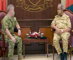 Bahrain's Defense Chief Receives 5th Fleet, Combined Task Force Commanders