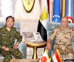 Egypt's Chief-of-Staff Receives Japanese Counterpart