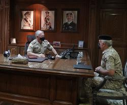 Jordanian King Visits Army Headquarters