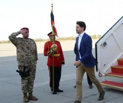 Justin Trudeau Visits Canadian Troops in Kuwait