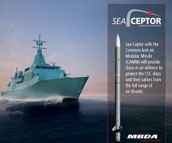 MBDA's Sea Ceptor Ordered for Canadian Surface Combatant