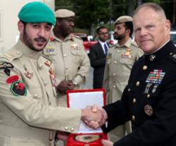 Bahrain Royal Guard SF Commander Meets US Marine Corps Chief
