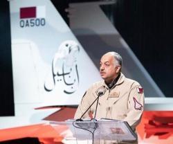 Qatar's Defense Minister Inaugurates Qatari F-15QA Aircraft in US
