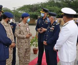 Saudi Air Base Commander Tours Joint Air Excellence Center Exercise in Pakistan