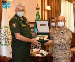 Saudi Chief of General Staff Receives Head of Russian General Staff Academy