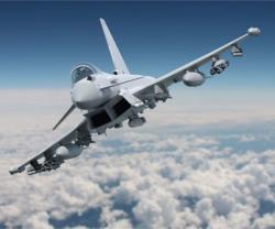 Typhoon With P3E Weapons Fit to Fly at Farnborough 2016