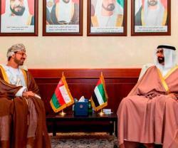 UAE Defense Minister Meets Omani, Singaporean Ambassadors